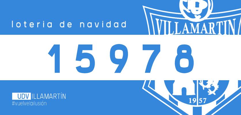 Lotería de Navidad UD Villamartín