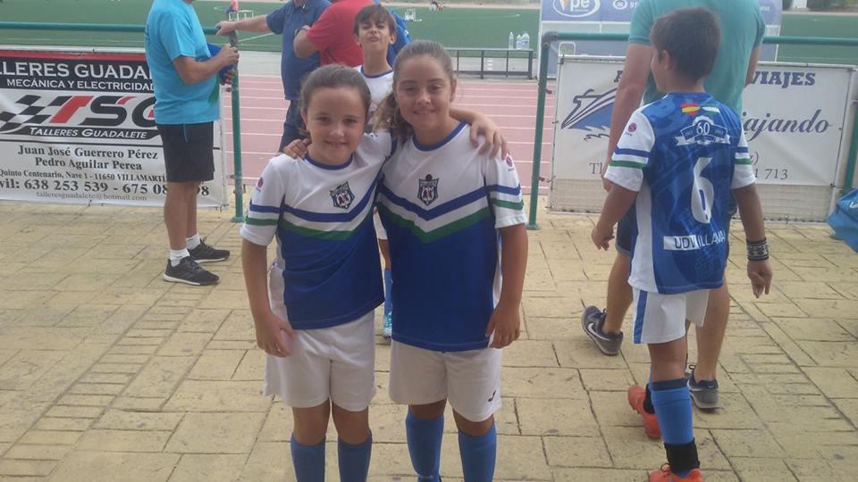 La UD Villamartín Felicita a Nuestras jugadoras Ana y Lucía por su preselección para la selección gaditana sub-12,muchas felicidades