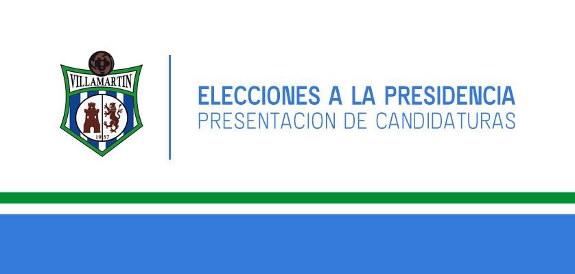 Presentación de candidaturas y elecciones a la Presidencia